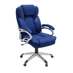 blue leather office chair grey covers corliving cobalt leatherette workspace executive lof 478 o the home depot