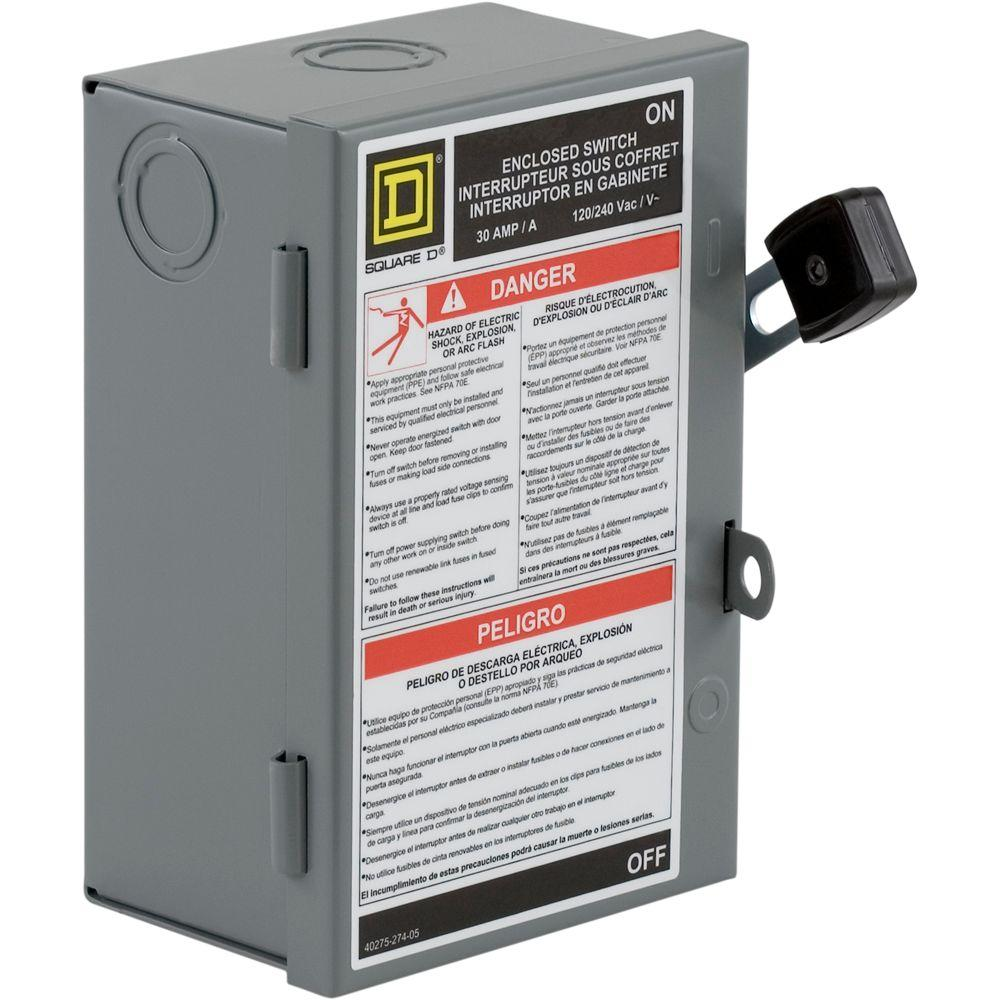 hight resolution of square d 30 amp 240 volt 2 pole fused indoor light duty safety motion switch wiring diagram square d safety switch wiring diagram