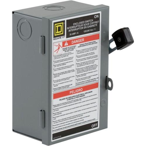small resolution of square d 30 amp 240 volt 2 pole fused indoor light duty safety switch