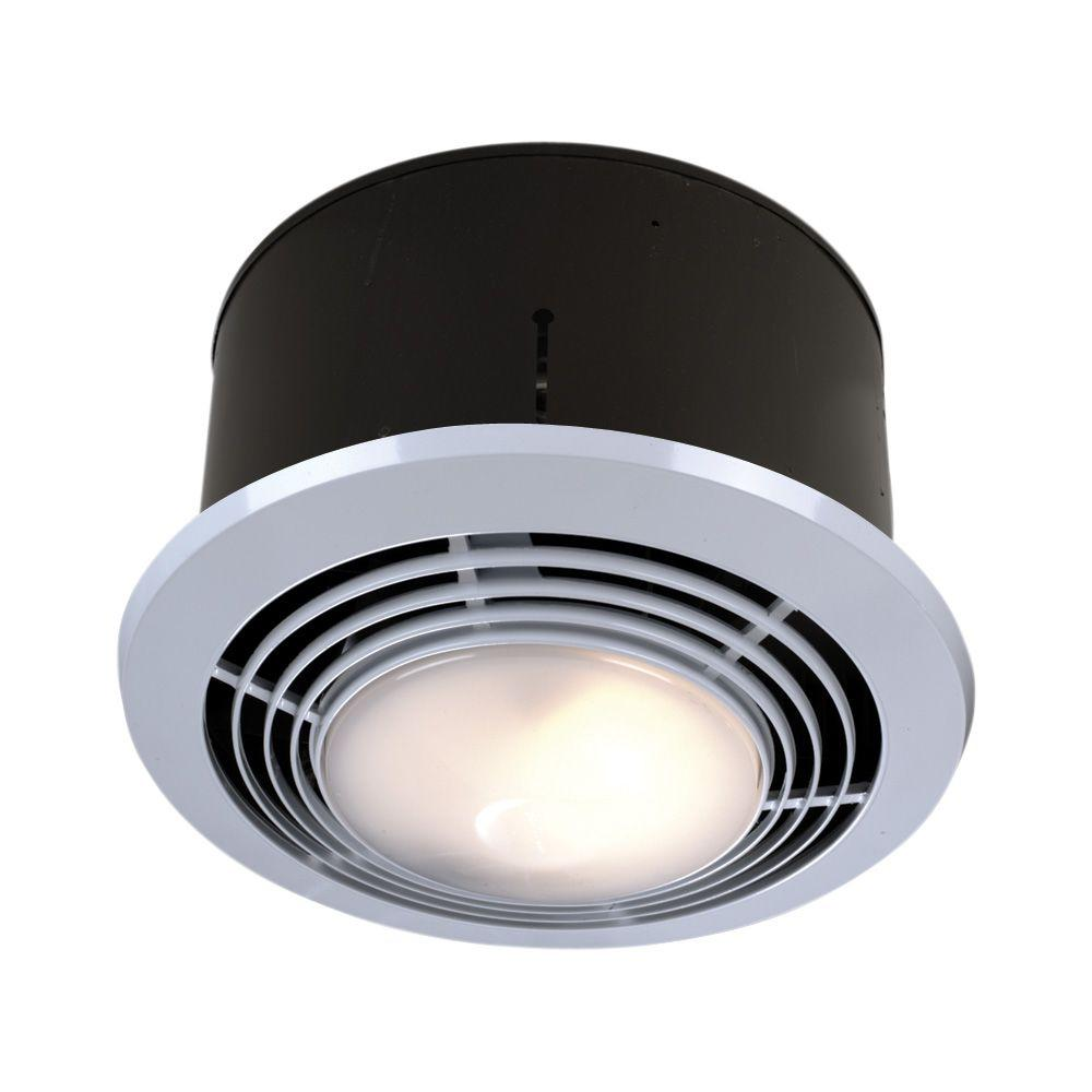 70 cfm ceiling exhaust fan with light and heater-9093wh - the home