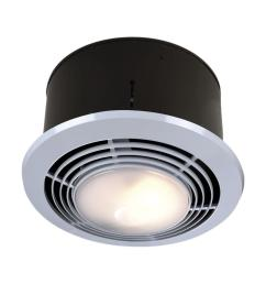 nutone 70 cfm ceiling bathroom exhaust fan with light and heater [ 1000 x 1000 Pixel ]