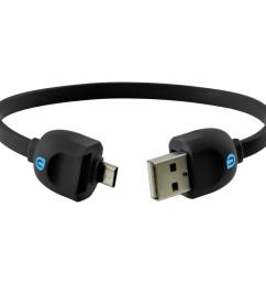 lock and go micro usb sync charge cable bracelet black [ 1000 x 1000 Pixel ]
