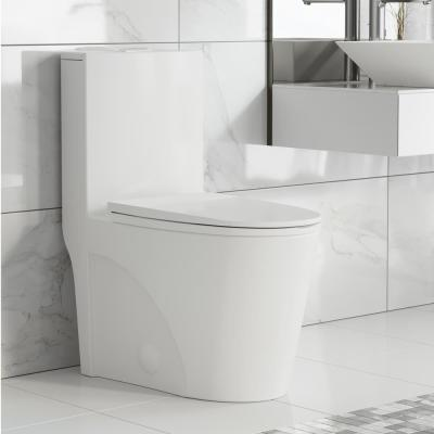 Swiss Madison St Tropez 1 Piece 0 8 1 28 Gpf Dual Flush Elongated Toilet In White Sm 1t254 The Home Depot