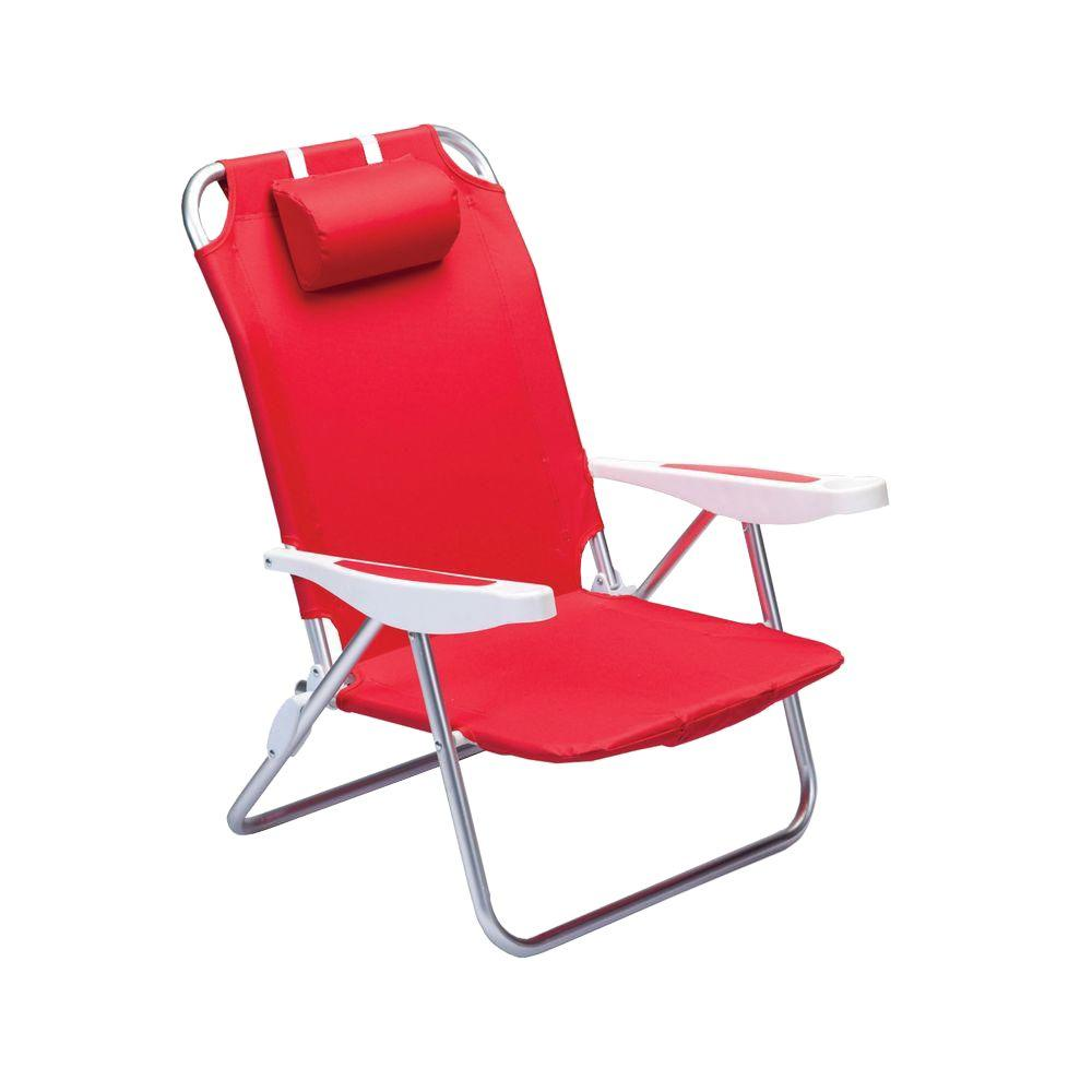 Red Patio Chairs Picnic Time Red Monaco Beach Patio Chair