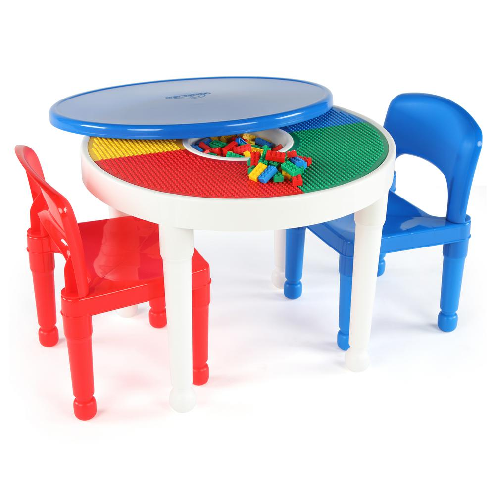 plastic kids table and chairs office desk chair mat for hardwood floor tot tutors playtime white 2 in 1 lego compatible activity set
