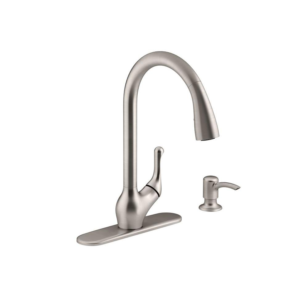 kohler barossa kitchen faucet childrens kitchens single-handle pull-down in ...