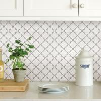 WallPOPs White Quatrefoil Peel Stick Backsplash Tiles ...