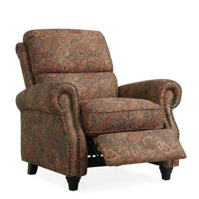 recliner chair leather big and tall office chairs recliners the home depot paisley push back