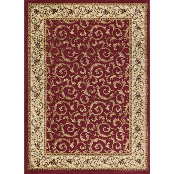 Tayse Rugs Elegance Red 9 Ft. X 13 Indoor Area Rug