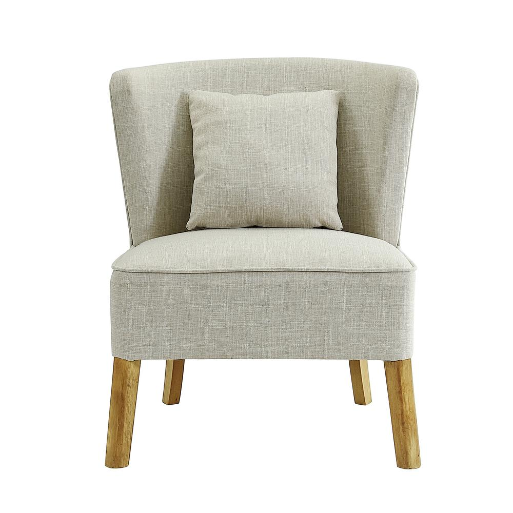 Curved Back Chair Walker Edison Furniture Company Ivory Accent Chair With Curved Back