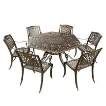 Hexagon Outdoor Dining Table Set - Room Ideas