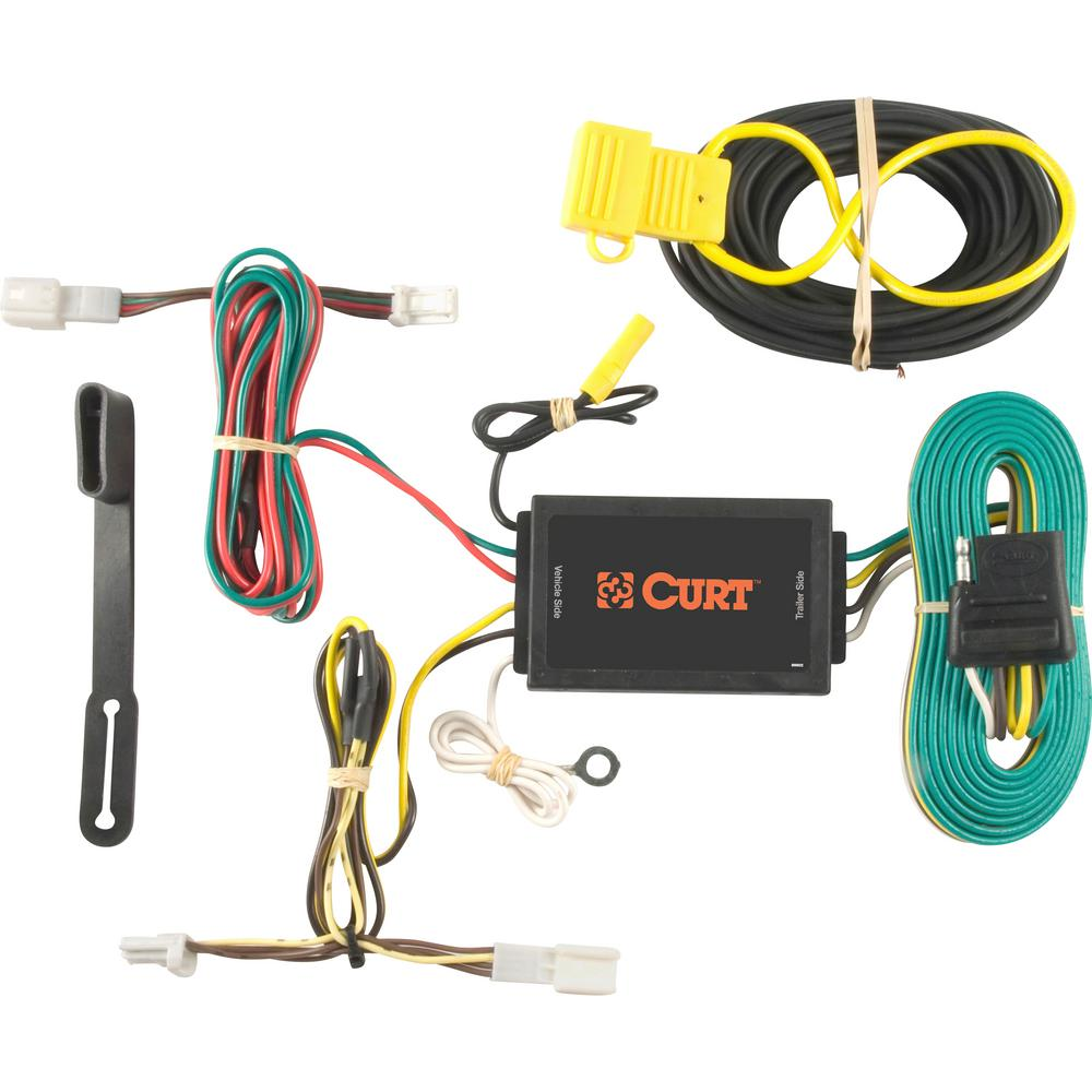 medium resolution of curt custom wiring harness 4 way flat output 56074 the home depot home how much is a trailer wiring harness