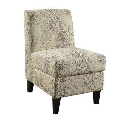 modern slipper chair college dorm room chairs gray accent the home depot ollano ii map pattern with storage