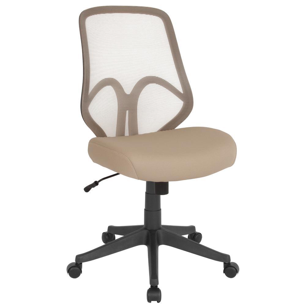 comfortable home office chair flip sofa sleeper flash furniture light brown mesh desk cga go 239893 li