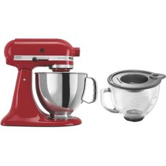 Kitchen Aid 5 Qt Mixer Brick Floor Kitchenaid Artisan Empire Red Stand Ksm150pser 3 Kit