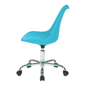 turquoise office chair louis xv armchair ave six emerson teal ems26 7 the home depot 6