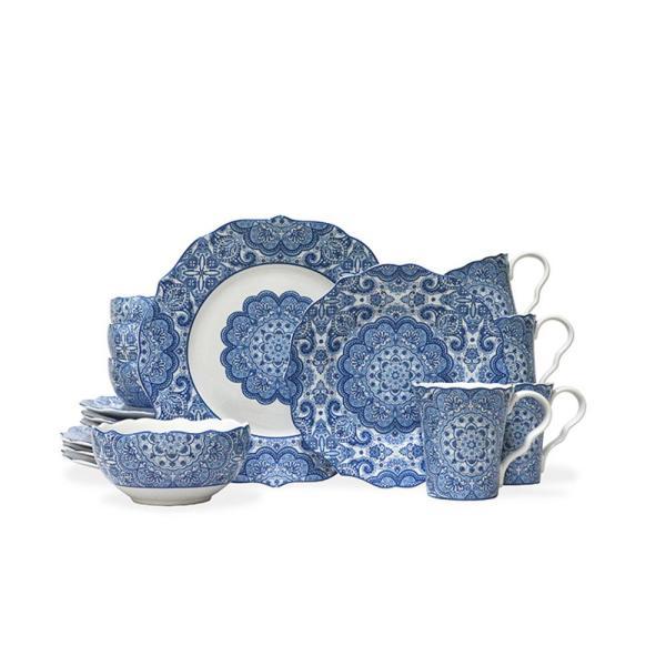 Lyria Blue 16-piece Dinnerware Set