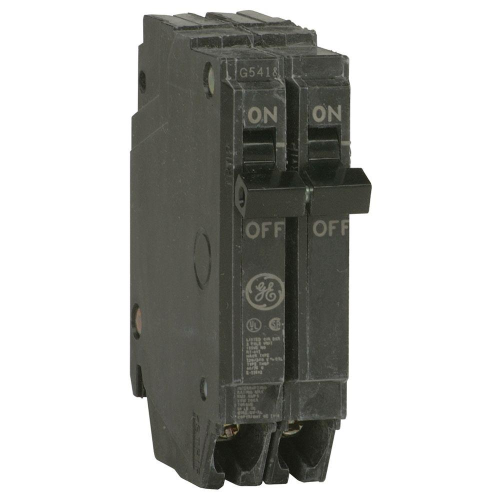 hight resolution of ge q line 20 amp 1 in double pole circuit breaker thqp220 the rh homedepot com
