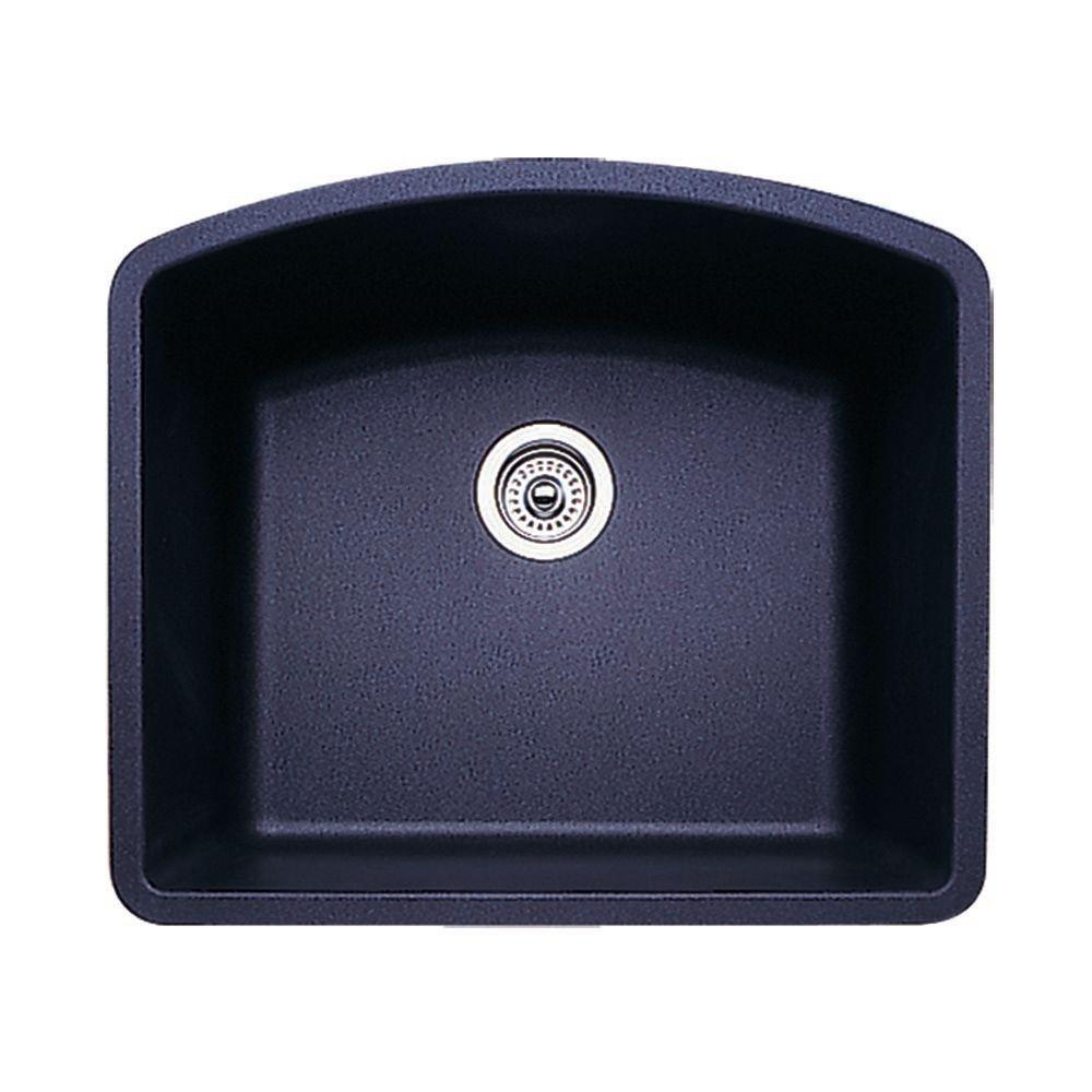 24 inch kitchen sink sprayer replacement blanco diamond undermount granite in single bowl anthracite