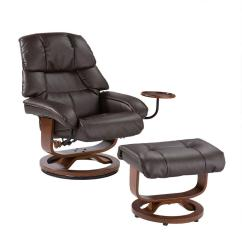 Reclining Chair With Ottoman Leather Gaming Reviews Reddit Cafe Brown Up7673rc The Home Internet 203138828