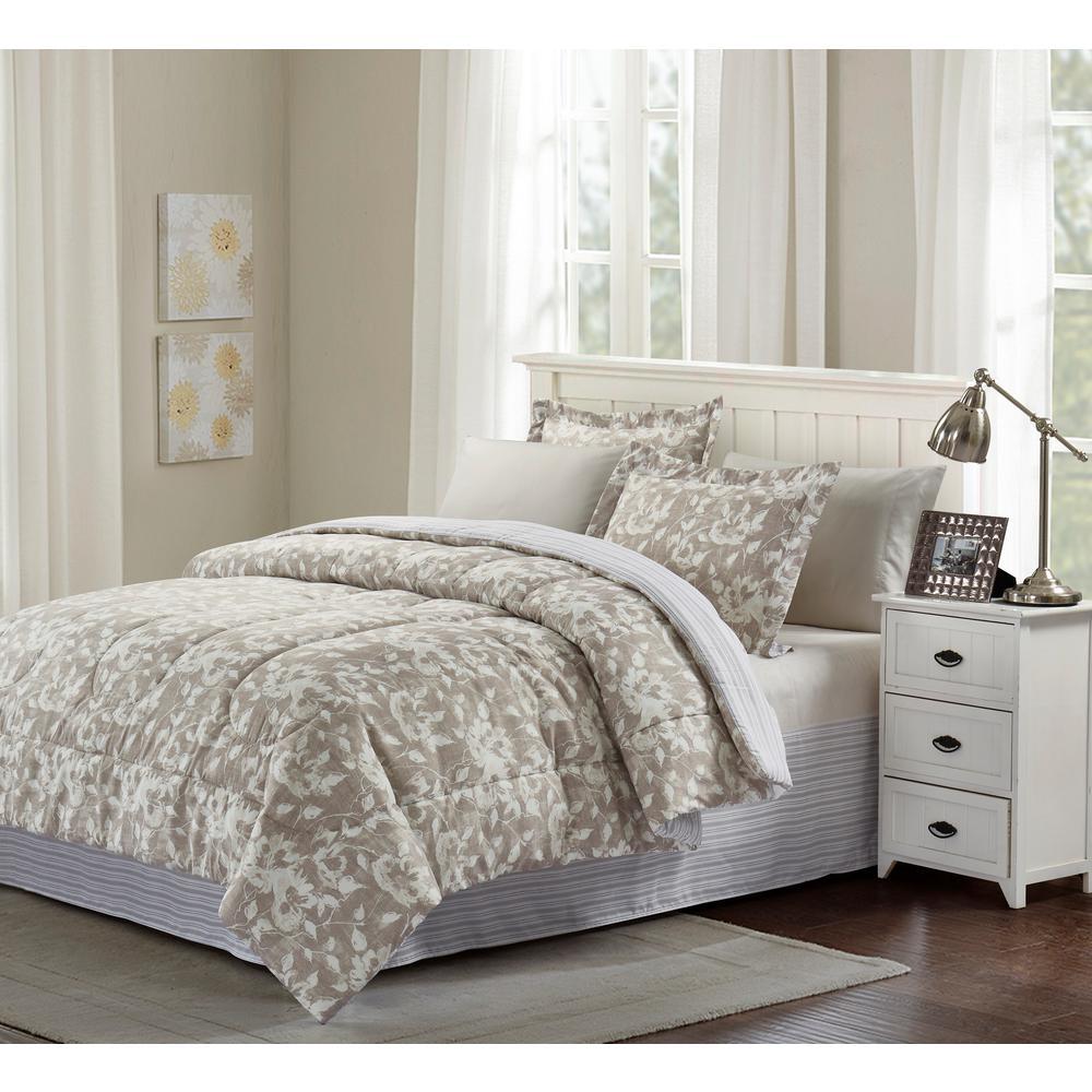 brown grey camille 8 piece taupe king comforter set bg18cmgr4 the home depot