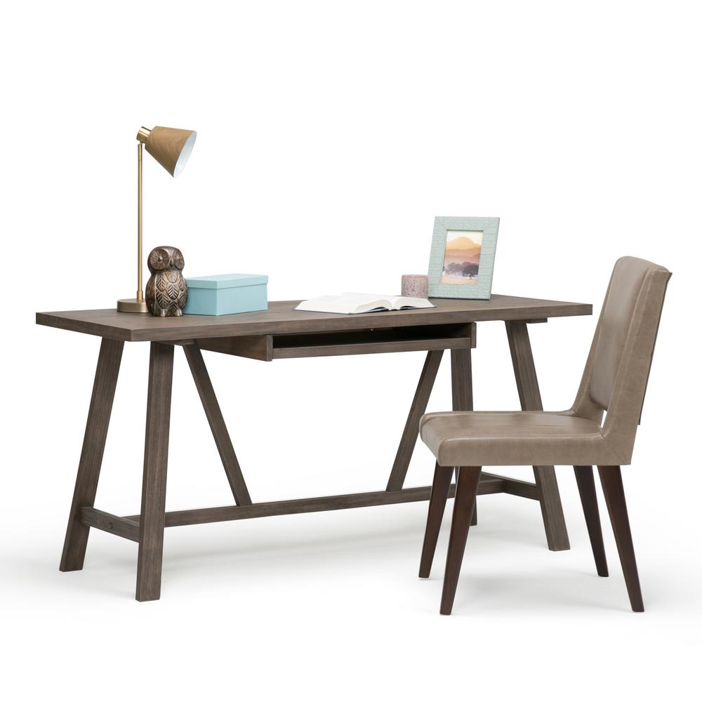 Simpli Home Dylan Driftwood Finish Desk3AXCDLN08 The