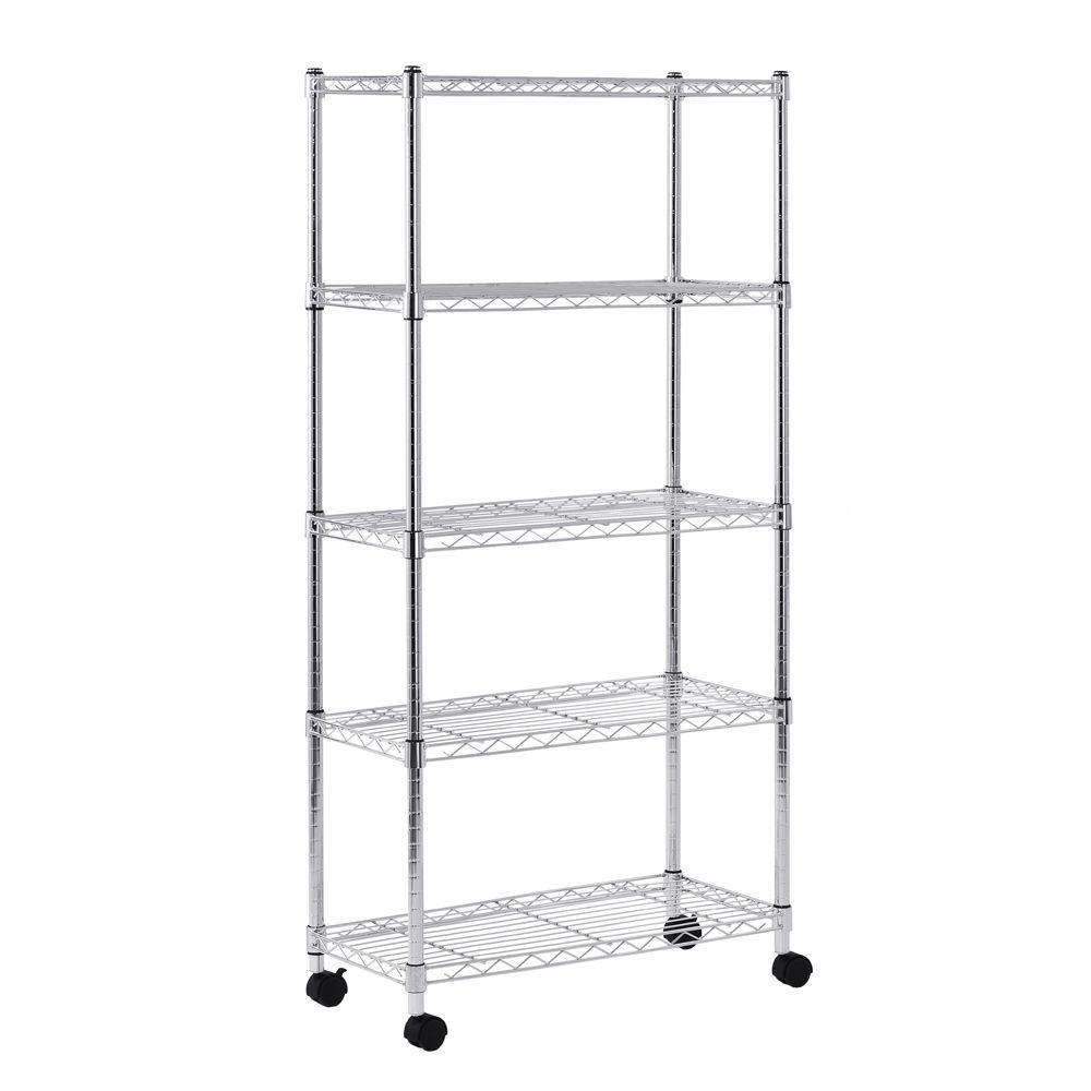 Sandusky 60 in. H x 30 in. W x 14 in. D 5 Shelf Mobile