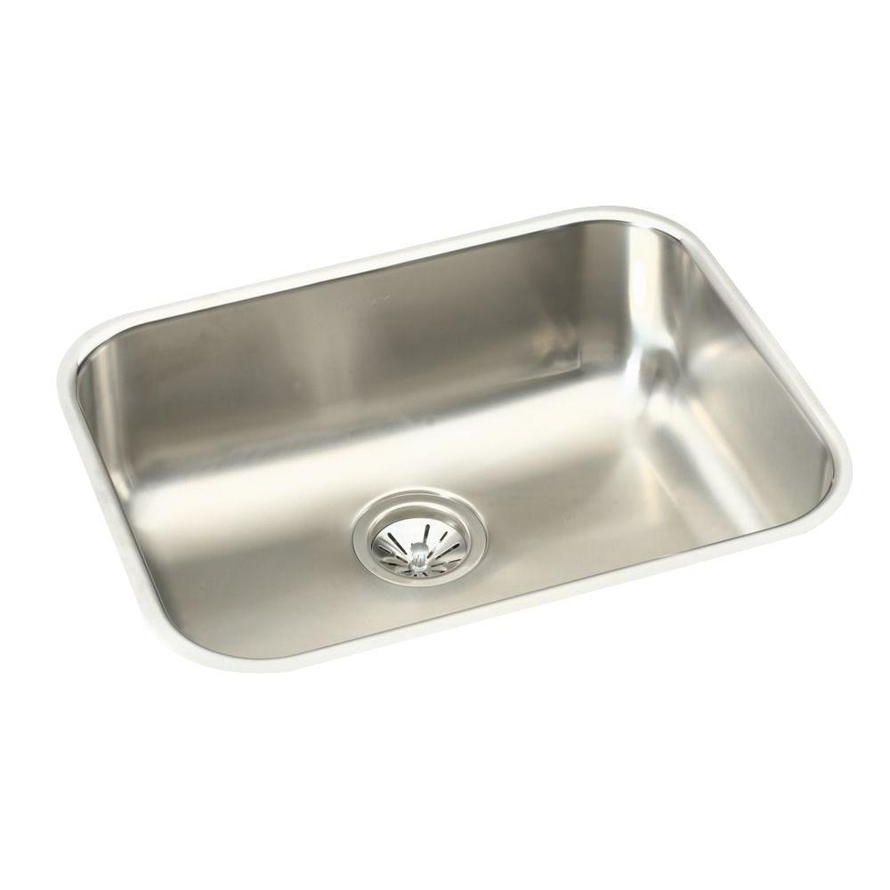 24 kitchen sink cost of island elkay undermount stainless steel in single bowl with 10