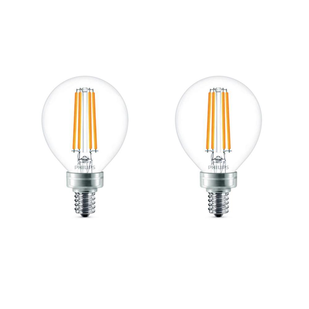Philips 40-Watt Equivalent G16.5 LED Light Bulb Soft White