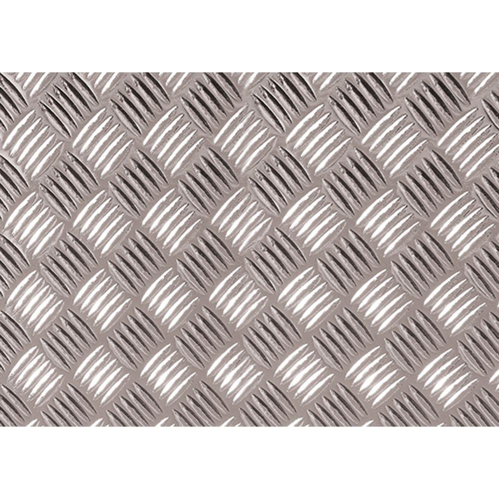 17.75 in. x 4 ft. 9 in. Silver Diamond Plate Decorative