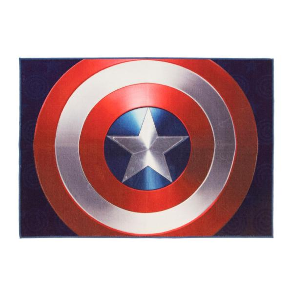 Marvel Captain America Red And Blue 5 Ft. X 7 Indoor