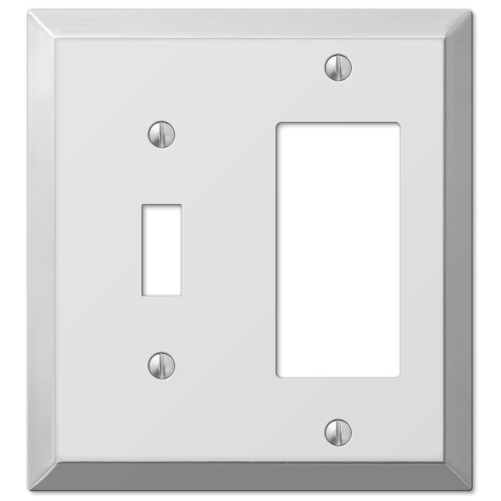 hight resolution of hampton bay century steel 1 toggle 1 decora wall plate chrome