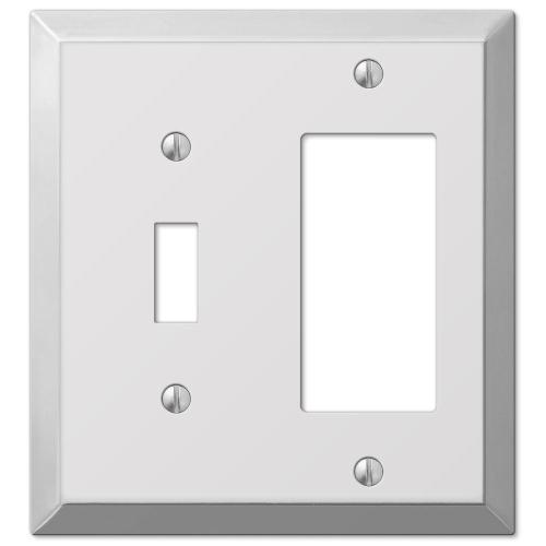 small resolution of hampton bay century steel 1 toggle 1 decora wall plate chrome
