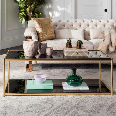 glass table sets for living room rectangle design coffee accent tables furniture the zola gold
