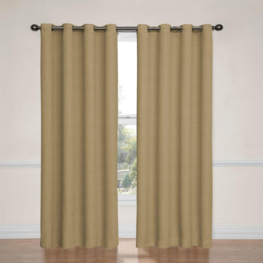 Eclipse Bobbi Blackout Tan Curtain Panel, 84 In Length