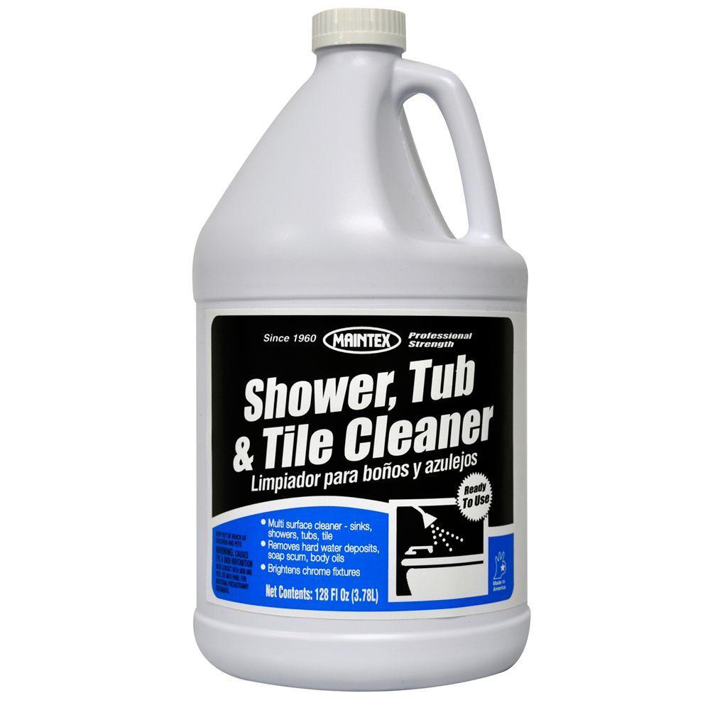 Shower Tub Tile Cleaner 128 oz Liquid Cherry Case of 4 Regular Strength Odor  eBay