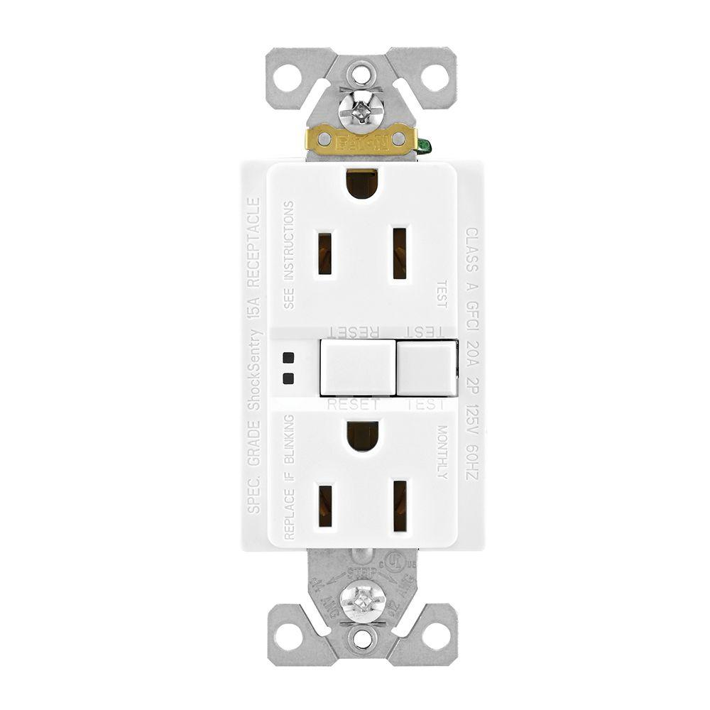 medium resolution of eaton gfci self test 15a 125v duplex receptacle with standard size wallplate white