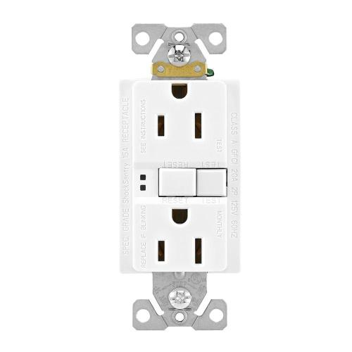 small resolution of eaton gfci self test 15a 125v duplex receptacle with standard size wallplate white