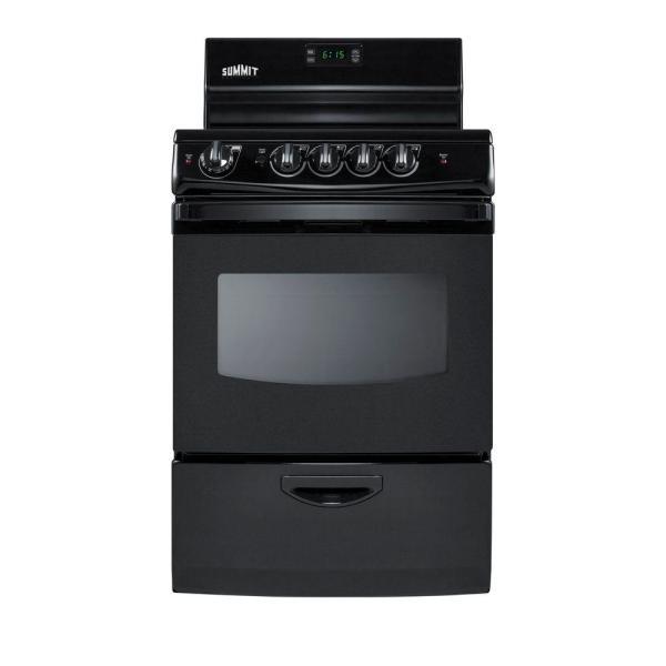 Summit Appliance 24 In. 3 Cu. Ft. Electric Range In Black