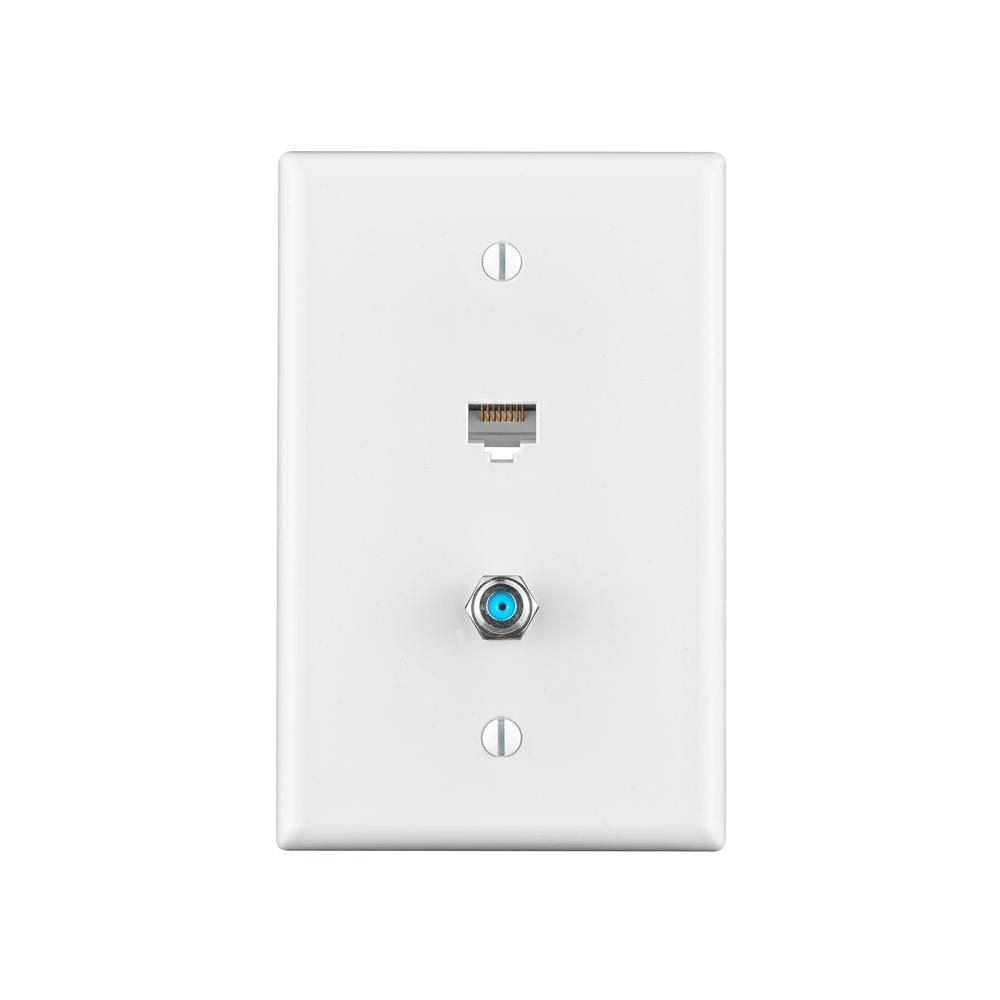 hight resolution of combo data tv mid sized wall plate white