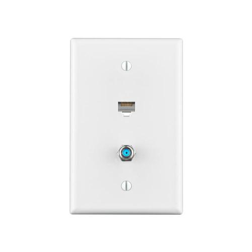 small resolution of combo data tv mid sized wall plate white