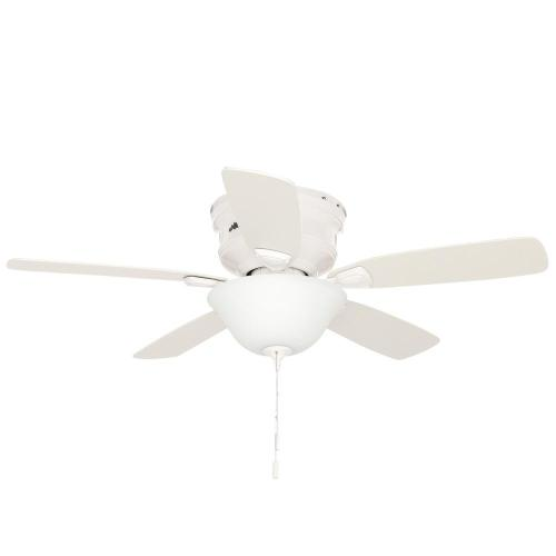 small resolution of hunter low profile 48 in indoor white ceiling fan with light kit