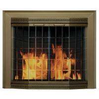 Pleasant Hearth Grandior Bay Small Glass Fireplace Doors ...