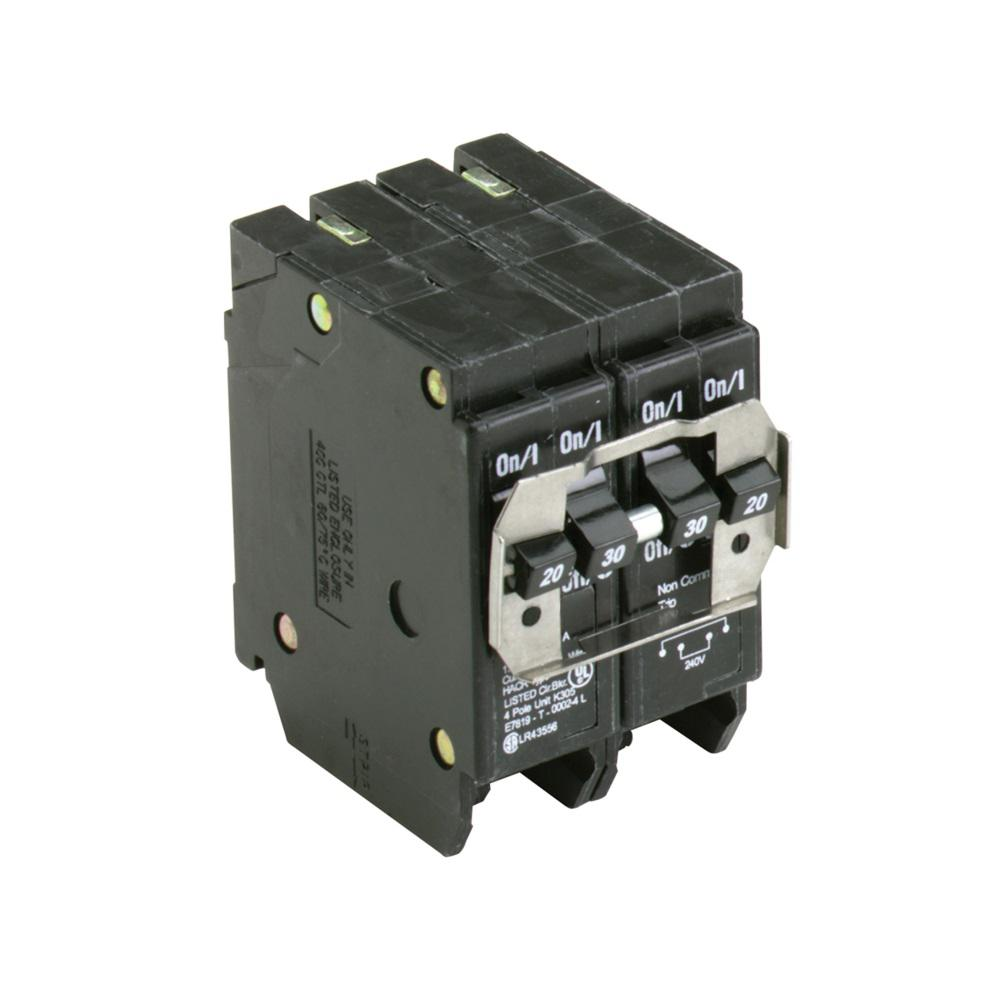 hight resolution of br 1 20 amp 2 pole and 1 30 amp 2 pole bq independent trip quad circuit breaker