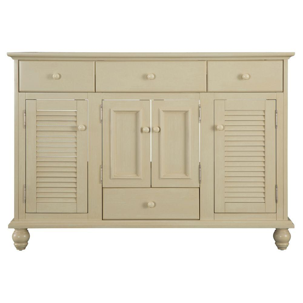 Home Decorators Collection Cottage 48 in W Bath Vanity Cabinet Only in Antique WhiteCTAA4822D