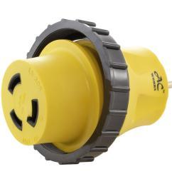 ac works rv marine adapter regular household 15 amp plug to 30 amp l5 30p wiring ac plug [ 1000 x 1000 Pixel ]