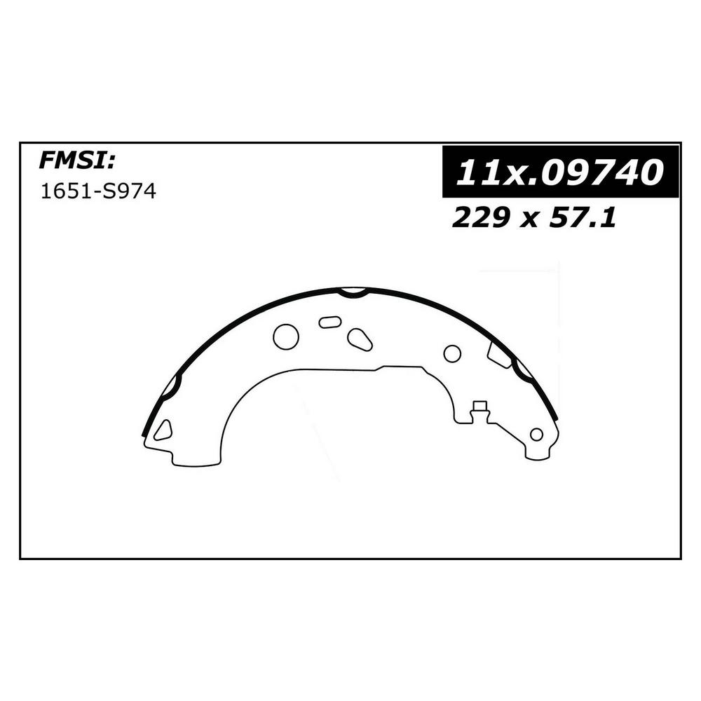 Centric Drum Brake Shoe 2011-2012 Ford Transit Connect