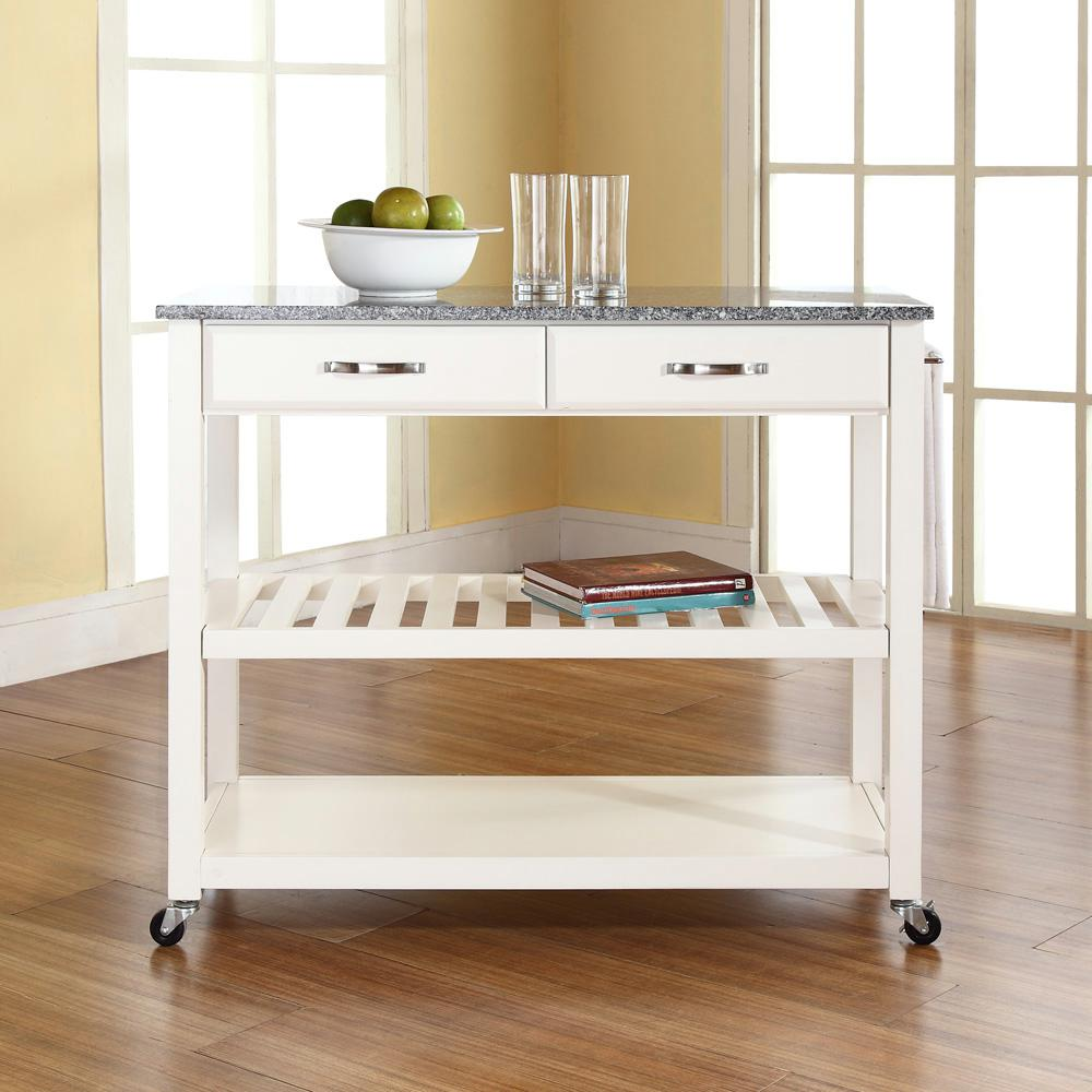 granite top kitchen cart photos of outdoor kitchens and bars crosley white with kf30053wh the home depot