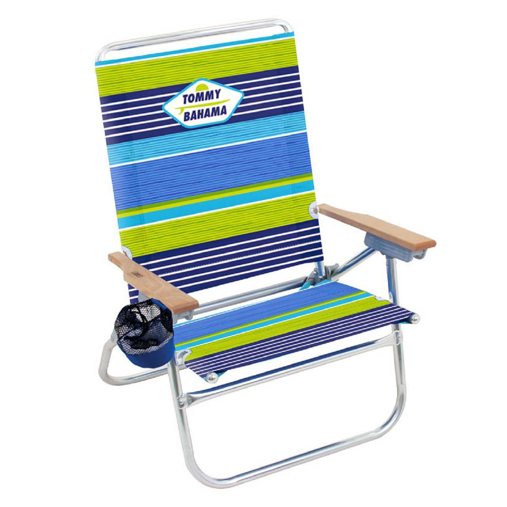 tommy bahamas beach chair swing patio furniture rio bahama striped easy in and out aluminum fabric reclining 4 position