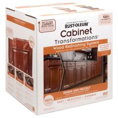 Painting Kitchen Cabinets Home Depot Solid Wood Tables Rust Oleum Transformations Cabinet Refinishing System Kit